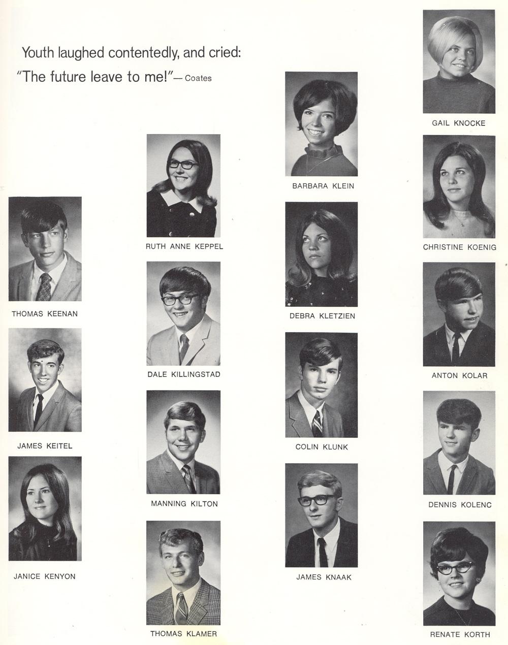 1970 sheboygan south high school yearbook for Christine kolar